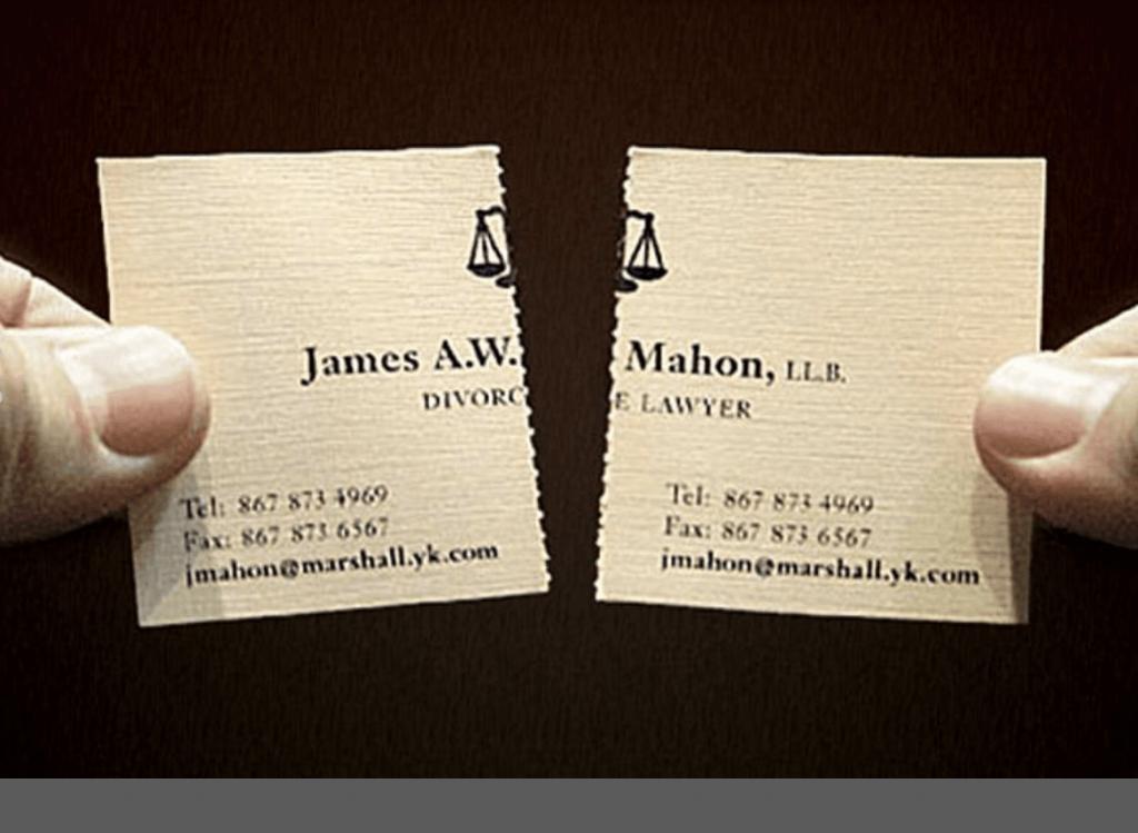 Biglietto da visita per divorzista