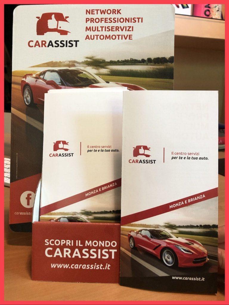 Esempio di brochure aziendale realizzata per il network CarAssist