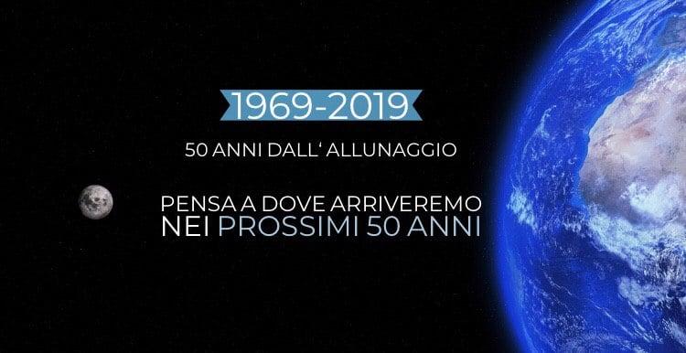 50° Anniversario dell'Allunaggio Apollo 11: 1969-2019